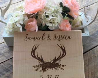 Cutting Board, Wedding Gift, Anniversary Gift, Engraved Cutting Board, Personalized Board, Gift for Newlyweds, Bride and Groom Gift