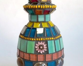 "Mosaic Bottle ""Waiting for Spring"""