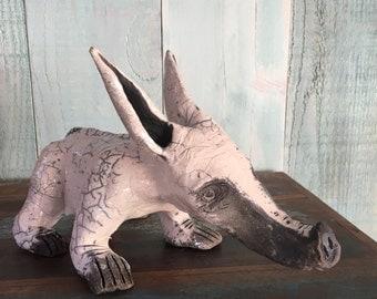 Ceramic raku baby tapir