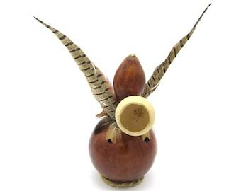 Gourd Rattle, Shaman Rattle, Gourd Art, Native American Decor, Native American, Gourds, Decorative Gourds, Shaman, Unique Home Decor
