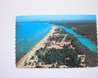 Wasaga Beach Postcard  1974 / vintage Beach Postcard / Georgian Bay Tourism Postcard