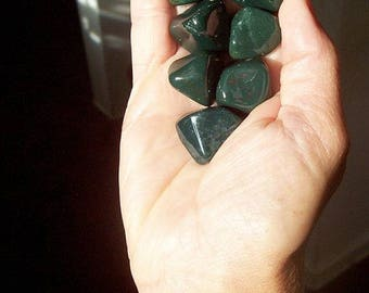 Beautiful Small/ Medium/Large- XLarge Dark Green Bloodstone Polished Stones -High Grade