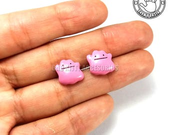 Ditto Inspired Stud Earrings, Surgical Steel Posts