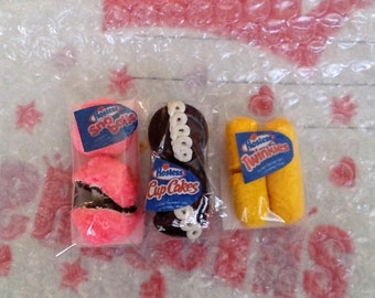 Hostess Sno Balls, Twinkies, Cupcakes fit American girl Doll's, 18 inch Doll's, Food for Dolls, Doll food