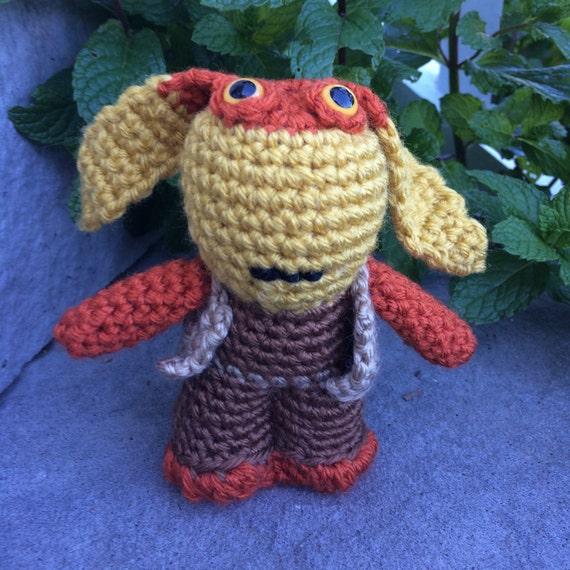 Star Wars Jar Jar Binks Amigurumi hand crocheted