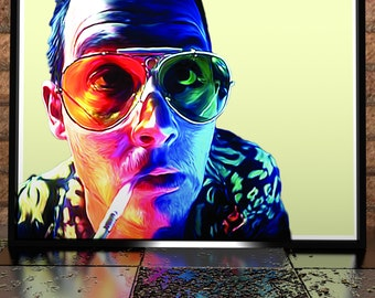 Johnny Depp Fear And Loathing In las Vegas Reptile Zoo - Digital Painting - Digital Illustration Poster - Hunter S. Thompson - Film Poster