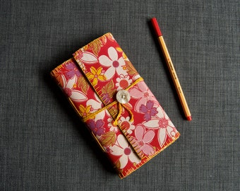 Travel journal - with pockets, envelope and pen holder