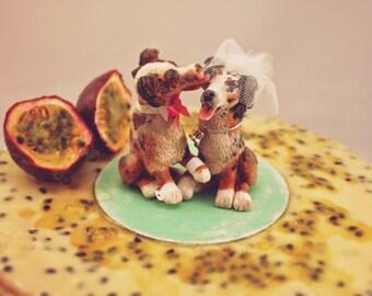 Custom Pet Wedding Cake Topper