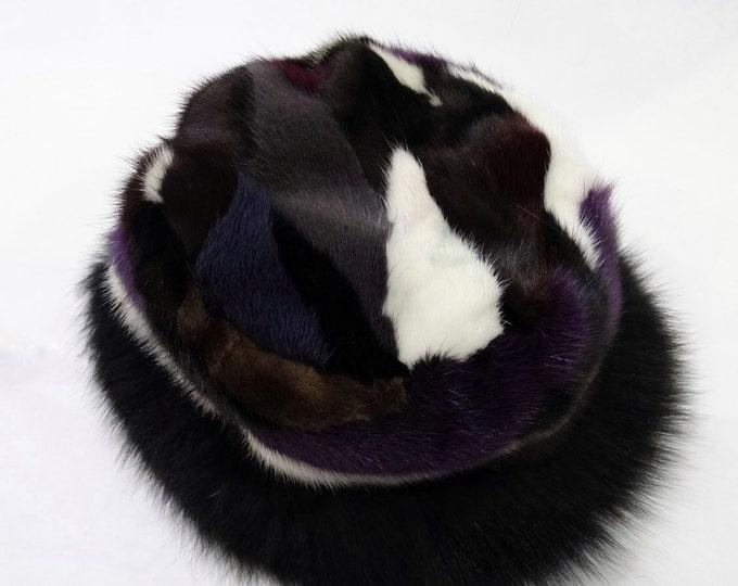 Fashion Hat, Mink and Fox Fur Hat F532