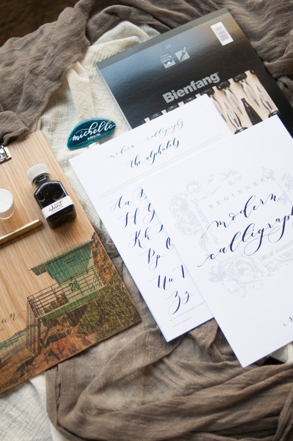 Beginner dip pen modern calligraphy kit by seniman