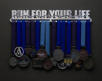 Run For Your Life - Allied Medal Hanger Holder Display Rack