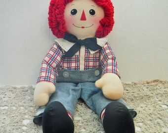 "Raggedy Andy Doll, Raggedy Andy, Stuffed Dolls, Vintage Rag Doll, Vintage Raggedy Andy, Collector Dolls, 24"" Vintage Raggedy Andy Collector"
