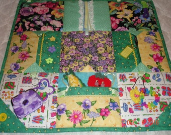 To Be Made - Floral/Gardening Fidget Activity Tactile Sensory Quilt Wheelchair Blanket Alzheimers autistic dementia anxiety brain trauma pt
