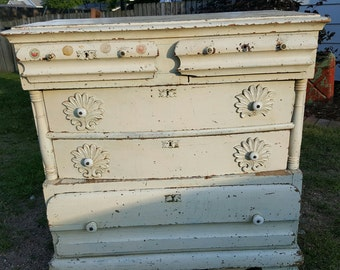 Antique Dresser, Handmade, Original, Early 1900's Furniture Victorian Shabby Chic French Country Modern Farmhouse Handcrafted Girl's Room