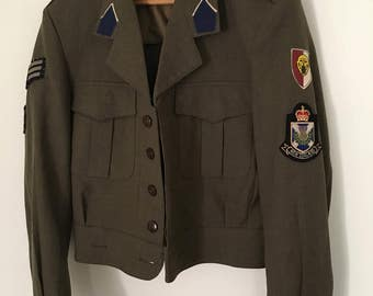 70s Air Force Military Jacket // Size M // Vintage Army Jacket