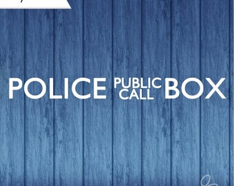 Police Public Call Box Decal, Tardis Decal, Doctor Who Decal, Dr Who Decal, Police Box Decal