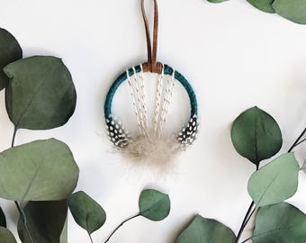 Mini Dream Catcher, Boho Housewarming Gift, Bohemian Gift Topper, Small Dreamcatcher, Modern Boho Dream Catcher, Bohemian Gift for Friends