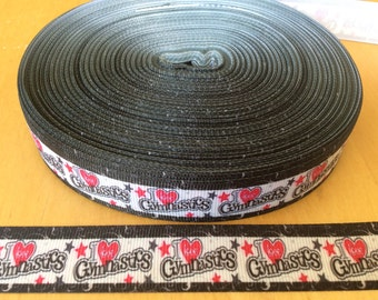 Gymnastic ribbons, gym ribbons, gymnastic ribbons, 7/8 inch Grosgrain ribbon, perfect for hairbows, scrapbooking and more