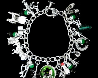 Wicked Musical Themed Charm Bracelet, The Untold Story Of The Witches Of Oz