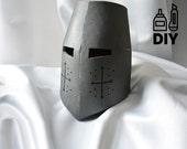 DIY Knight Helmet Template for EVA foam - version A