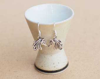 Horse Earrings , Pony earrings, 925 sterling silver, Horse Jewelry, Horse Lover Gift, Gift for her
