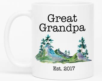 Great Grandpa Gift, Great Grandpa Mug, Pregnancy Announcement, Grandparents Baby Reveal, Great - Grandpa, Gift for Great Grandpa
