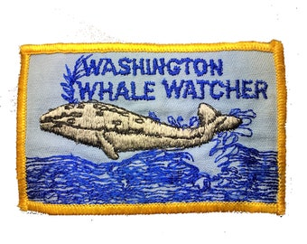 Vintage Washington Whale Watcher Patch