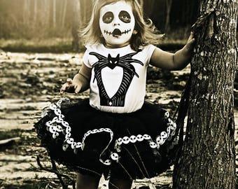 Halloween Costume - Jack Skellington Costume - Skeleton Costume - Jack Skellington Tutu - First Halloween - Girls Tutu - Baby Costume