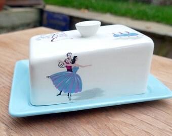 1960's Beswick Pavlova Butter Dish