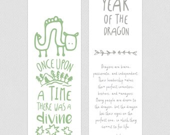 Bookmark - Year of the Dragon