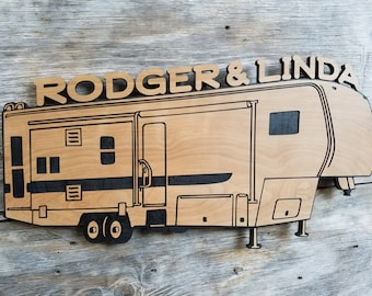 Travel Trailer Camper Wooden Sign Customized Gift Personalized Camper Wall Hanging