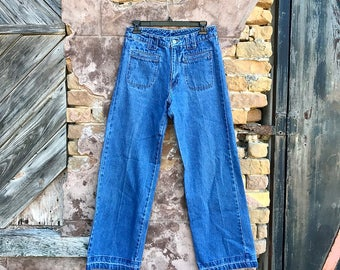 ON SALE ••• Vintage Boom Boom High Waisted Wide Leg Jeans | small | medium | 28