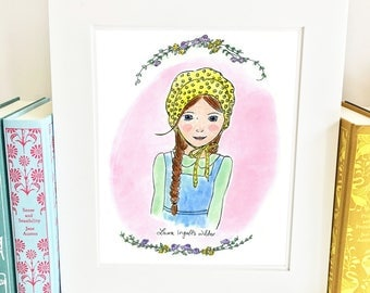 Inspirational Girls Room Decor - Laura Ingalls Wilder - girls room decor - Pink - HLI