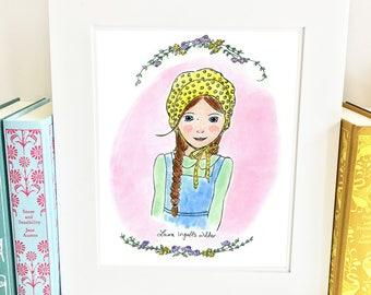Laura Ingalls Wilder Print - 5x7 - Little House on the Prairie - girls room decor - HLI