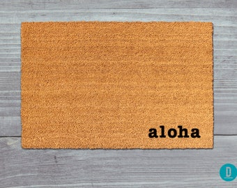 Aloha Doormat, Aloha Door Mat, Aloha Welcome Mat, Hawaii Doormat, Hawaii Door Mat, Hawaii Welcome Mat, Island Doormat, Hawaiian Door Mat