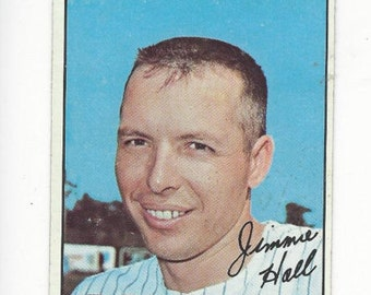 1967 Topps JIMMIE HALL California ANGELS original vintage baseball card number 432 in good condition