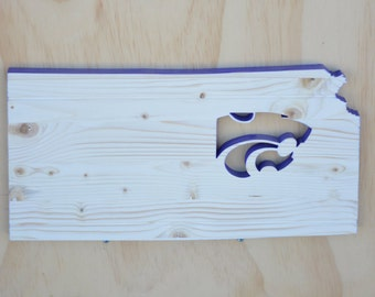Kansas State Wildcats State Wood Cutout