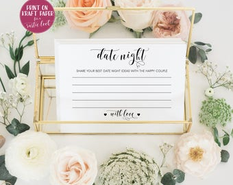 Date night cards Bridal shower games Date night ideas Wedding ideas Date night jar Date jar date ideas Bridal shower ideas date night box