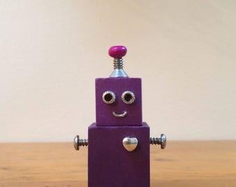 Robot, robot sculpture, assemblage art, robots, assemblage, found object art,found object robot, robot art,robot gift, small robot, tiny bot