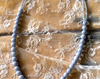 Dusty Blue Beaded Necklace