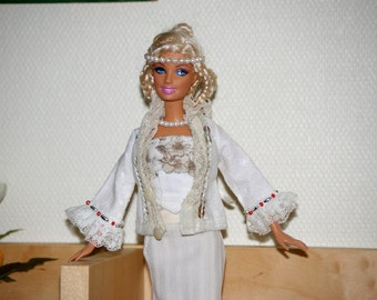 White coat for Barbie - 29 cm doll