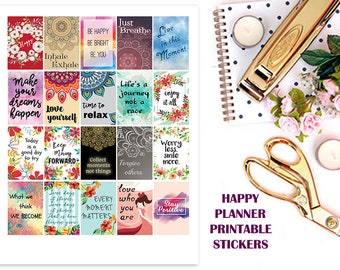 Happy Planner Stickers, Printable Stickers, Motivational Quote Stickers, Weekly Stickers, Monthly Stickers, Full Box Planner Stickers, MAMBI