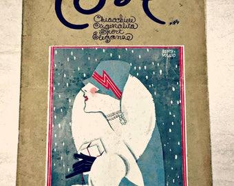 """Vintage magazine 1927 """"Cose chiacchiere originalità sport eleganza"""""""