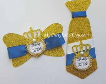 Tie Prince Corsage/Bow Tie Prince Corsage/Tie Daddy to be Prince Corsage/Bow Tie Daddy to be Prince Corsage/Daddy to be Pin/Daddy Prince Pin