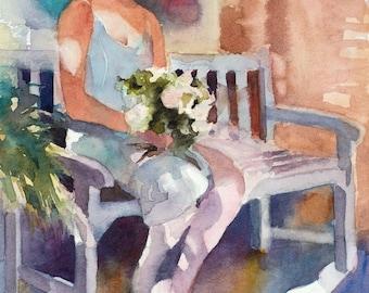 Watercolor Paintings, Watercolor Painting, Watercolor Prints, Watercolor Print, Ballerina Watercolor Print, Ballet Dancer, Watercolor Art