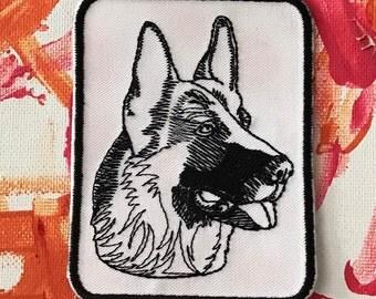German shepherd patch, working dog patch, gsd patch, dog patch, shepherd patch, working dog, man's best friend, gift under 10, k9 patch