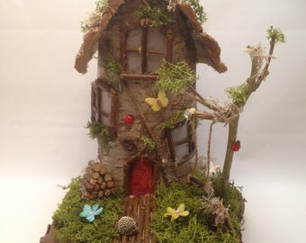 Magic Fairy House Nightlight, Childs Nightlight, Wooden Fairy House, Battery Operated Nightlight, Handmade Fairy House, Magic Fairies, Fairy