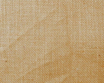 "Beige Burlap, Natural Fabric, Home Accessories, Beige Jute Fabric, Rustic Fabric, 52"" Inch Burlap Fabric By The Yard ZJC18B"