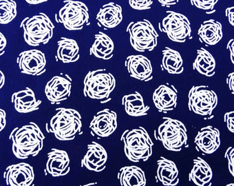 """Decorative Fabric, Dress Material, Navy Blue Fabric, Printed Fabric, Sewing Crafts, 43"""" Inch Rayon Fabric By The Yard ZBR301A"""