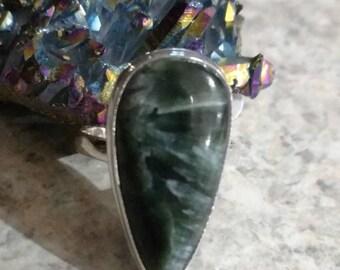Seraphinite Ring, Size 7